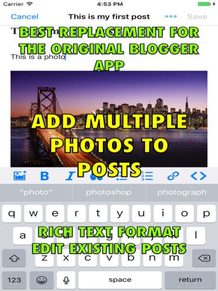 Download Blogger App for iPad