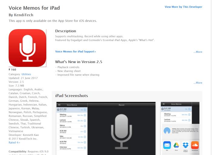 Download Voice Memos for iPad