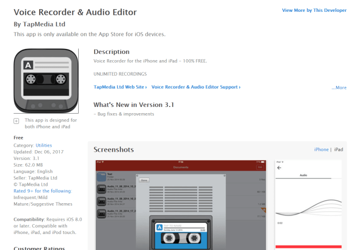Download  for Recording App iPad