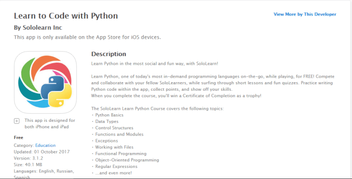 Download Python for iPad