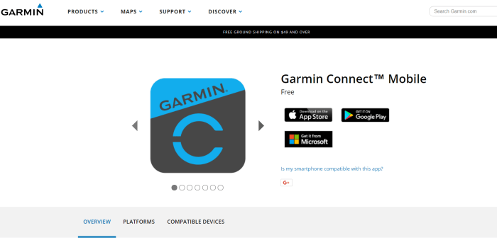Download Garmin Connect For iPad