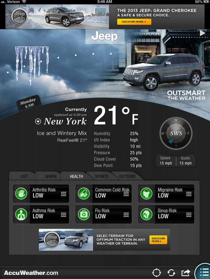 Download AccuWeather App for iPad