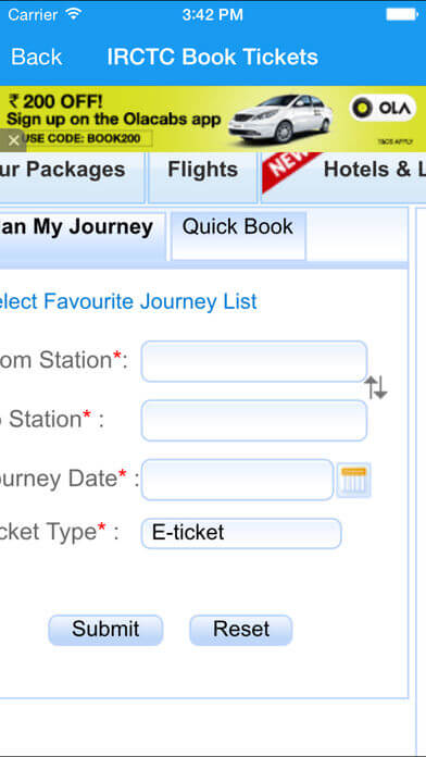 Download IRCTC App for iPad