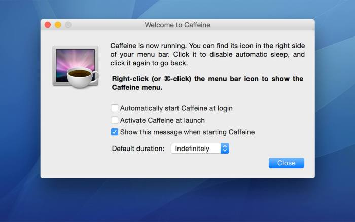 Download Caffeine for Mac