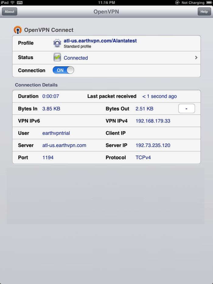 Download OpenVPN for iPad