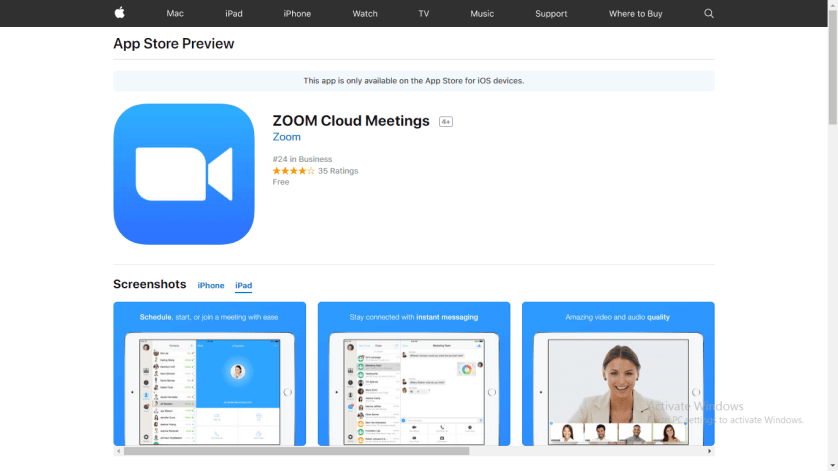 Download Zoom App for iPad