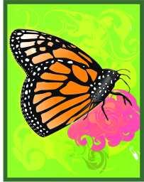 Monarch Butterfly Computer Art