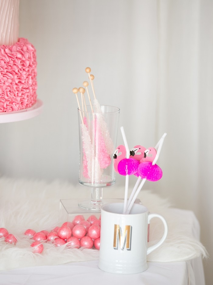 CHIC PINK Amp WHITE FLAMINGO PARTY Best Friends For Frosting