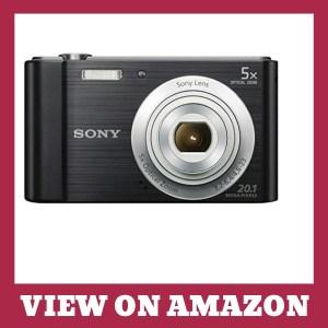 Sony DSCW800 B MP Digital Camera