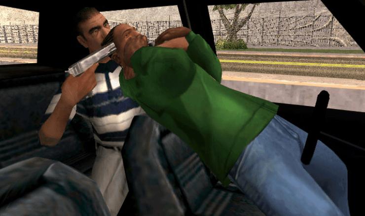 GTA san adreas ps2 game