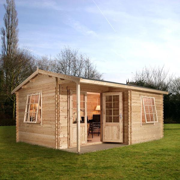 Waltons Greenacre Home Office Executive Log Cabin
