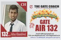 GATE 2016 Topper AIR 132