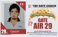 GATE 2016 Topper AIR 29