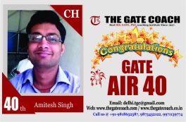 GATE 2016 Topper AIR 40