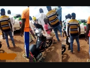 Video: Angry Youth Reject Sallah Rice Donated By MP And Demand For Jobs
