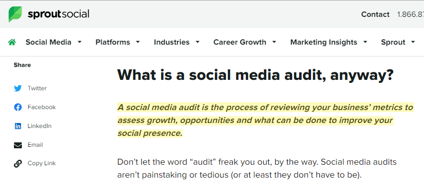 how to conduct social media audit