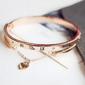 Elegant Roman Bracelet – Roman Bangle Bracelet - Rose Gold Roman Bracelet - Silver Roman Bracelet - Best Gifts Gallery