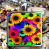 Sunflower Necklace - Sunflower Pendant - Sunflowers Necklaces