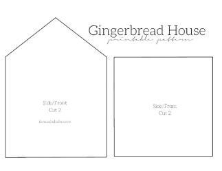 gingerbread template printable templates noah arc walls