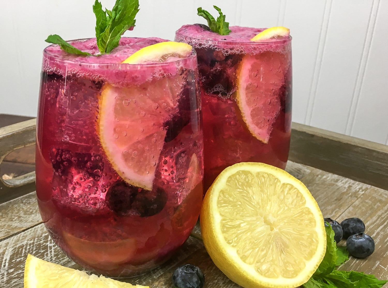Recipe Blueberry maple lemonade