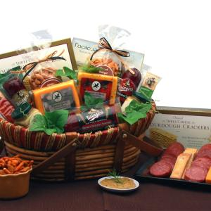 Savory Favorites Meat and Cheese Gift Basket product image