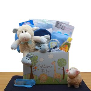 Easy as ABC New Baby Gift Basket - Blue Product image