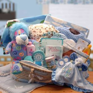 Precious Petals Deluxe Moses Carrier-Blue product image