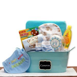 Baby Basics Gift Pail Blue product image