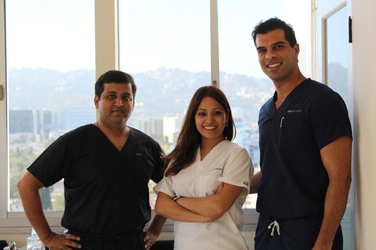 , Team Alvi Armani India with Dr.Baubac Hayatovoudi at beverly hills, Dr.Arihant Surana