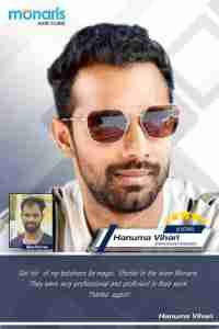 Hanuma vihari hair transplant, Hanuma Vihari -Another young Cricket player trusted Monaris Hair clinic, Dr.Arihant Surana