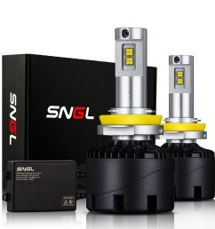sngl super bright led headlight conversion kit brightest led headlight bulbs [ 1000 x 1000 Pixel ]