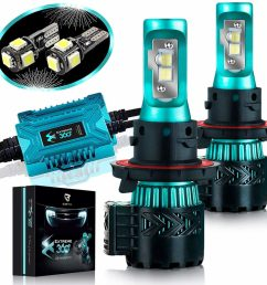glowteck led headlight bulbs conversion kit [ 1024 x 1007 Pixel ]