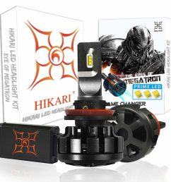 hikari ultra led headlight bulbs conversion kit [ 1024 x 1024 Pixel ]