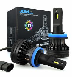 jdm astar t1 led headlight bulbs conversion kit [ 1024 x 1024 Pixel ]