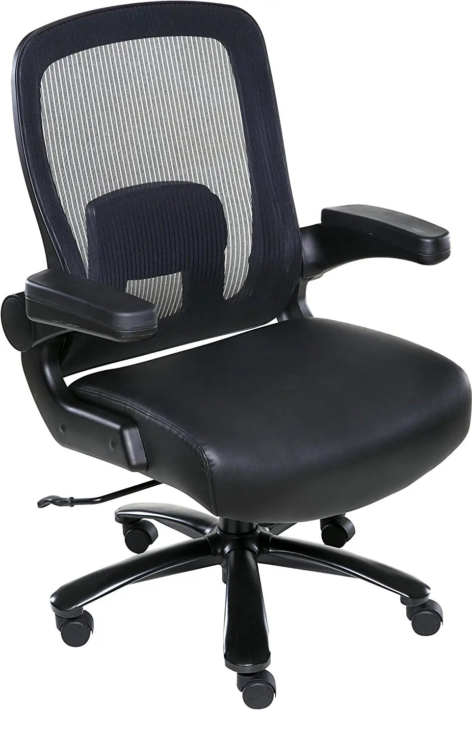 office chair supports 300 lbs eddie bauer high replacement tray onespace taft mesh back oversized executive 500 capacity - best heavy duty stuff