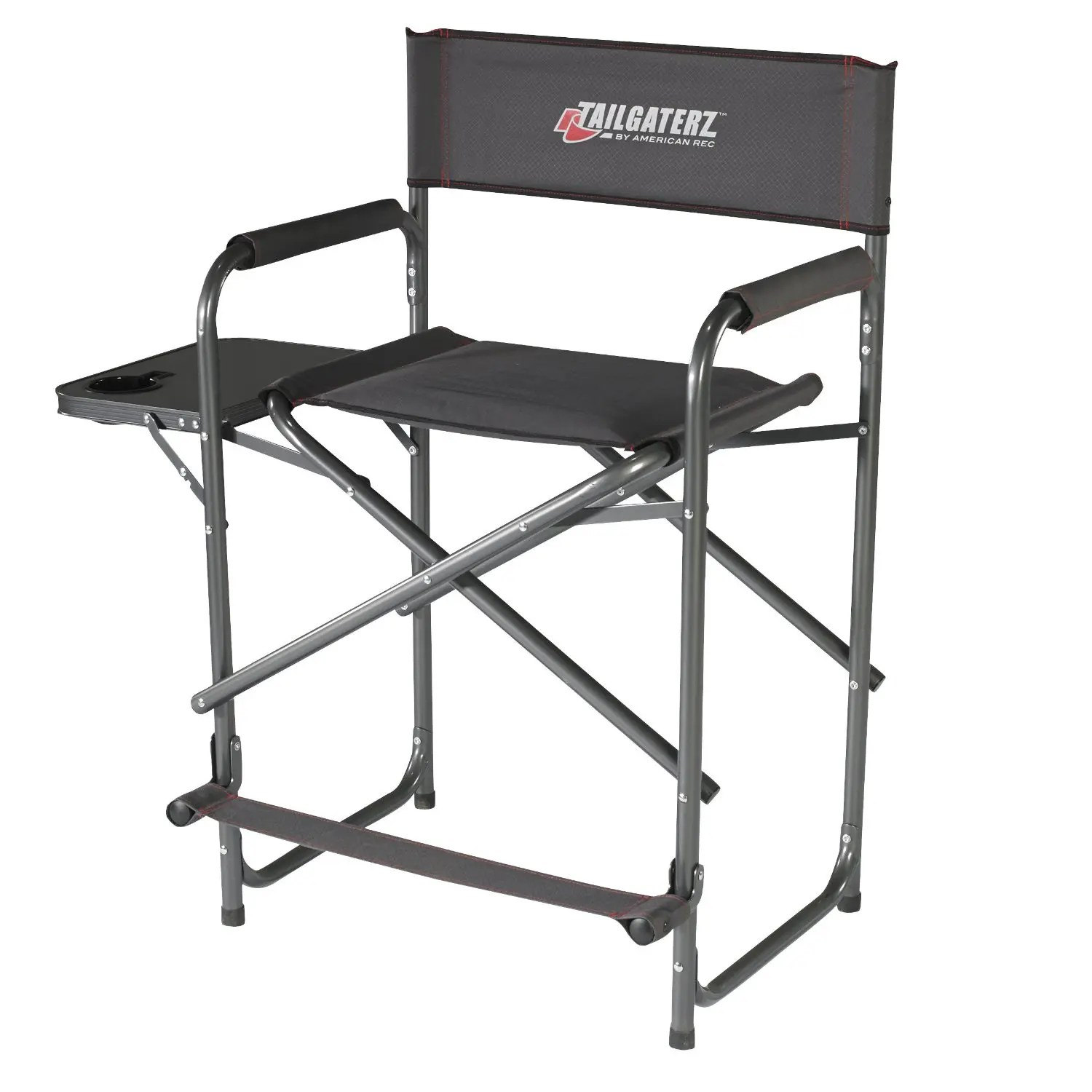heavy duty folding chair with side table ergonomic john lewis tailgaterz tall camping directors review nametailgaterz jpg