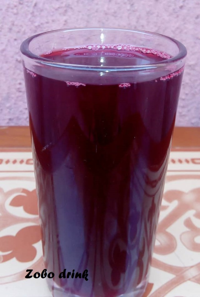 Zobo drink (Hibiscus tea