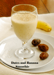 Dates and banana smoothie