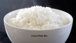 cooked white rice