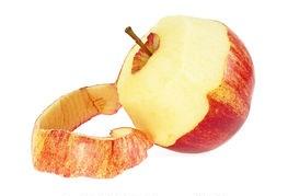 peeled apple skin