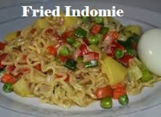 Fried Indomie stuffed with carrots