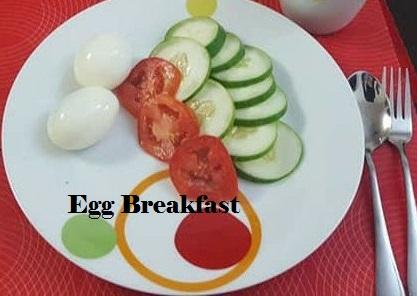 Low calorie egg breakfast