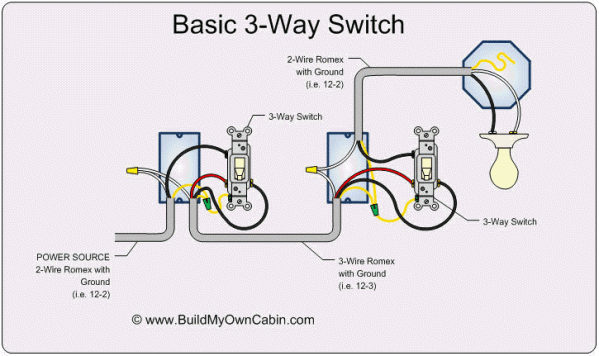 How To Wire A Light With Two Switches Switch Diagram