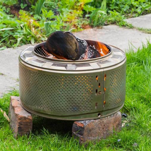 Washing machine drum   Portable Fire Pit