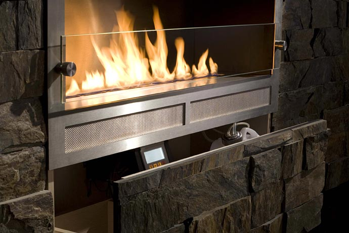 Contemporary Eco Fireplaces For Small Spaces Best Home