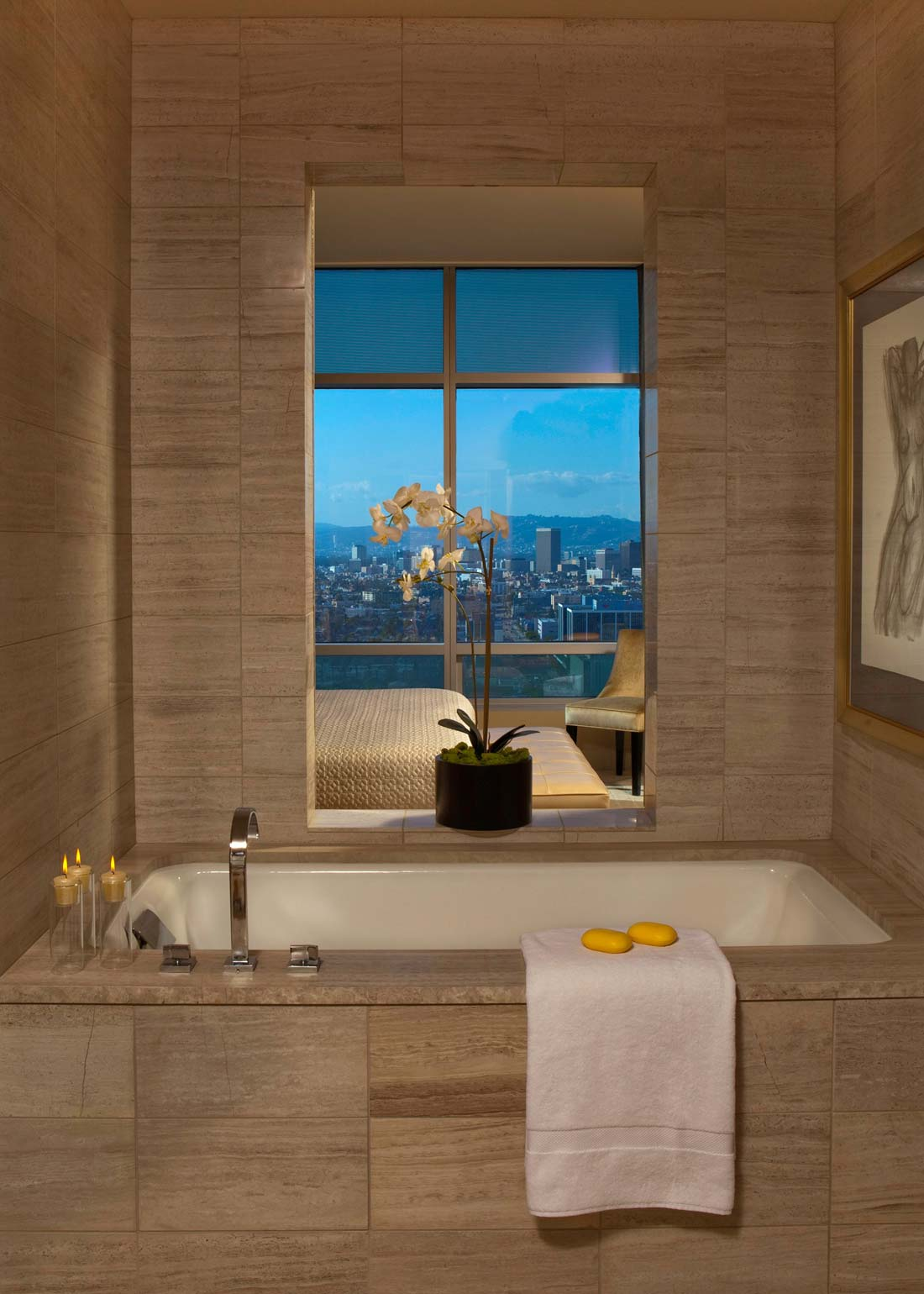 hotels with kitchen in los angeles summit all one luxury penthouse at the ritz carlton residences