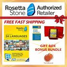 NEW Rosetta Stone FULL COURSE LIFETIME DOWNLOAD ARABIC DICTIONARY GIFT BUNDLE