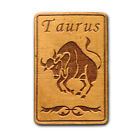 TAURUS Zodiac Sign Natural Wood Fridge Magnet Made in USA WM073