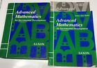 Saxon Advanced Mathematics second Edition Textbook Homeschool Packet Tests