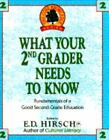 What Your 2nd Grader Needs to Know ED Hirsch Jr 0385411162 Book Good